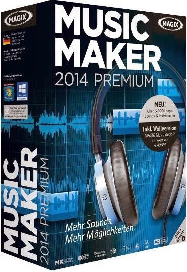 Download MAGIX Music Maker 2014 Premium 20.0.5.56 Crack free software