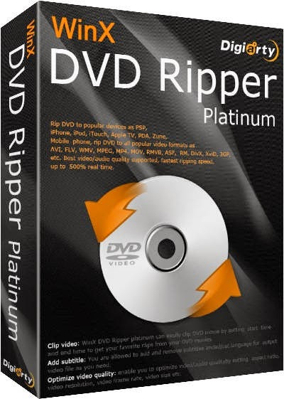 Download WinX DVD Ripper Platinum 7.5. build 061714 free software