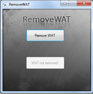 RemoveWAT 2.2.8 Windows 7 Permanent Activation Full Version