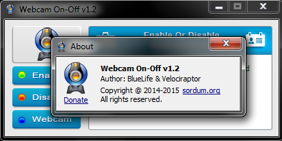 WebCam On-Off 1.2