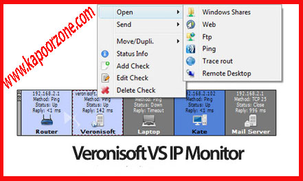Veronisoft VS IP Monitor 1.5.10.3 (x86/x64) With Serial, Veronisoft VS IP Monitor Free Download, Veronisoft VS IP Monitor with crack